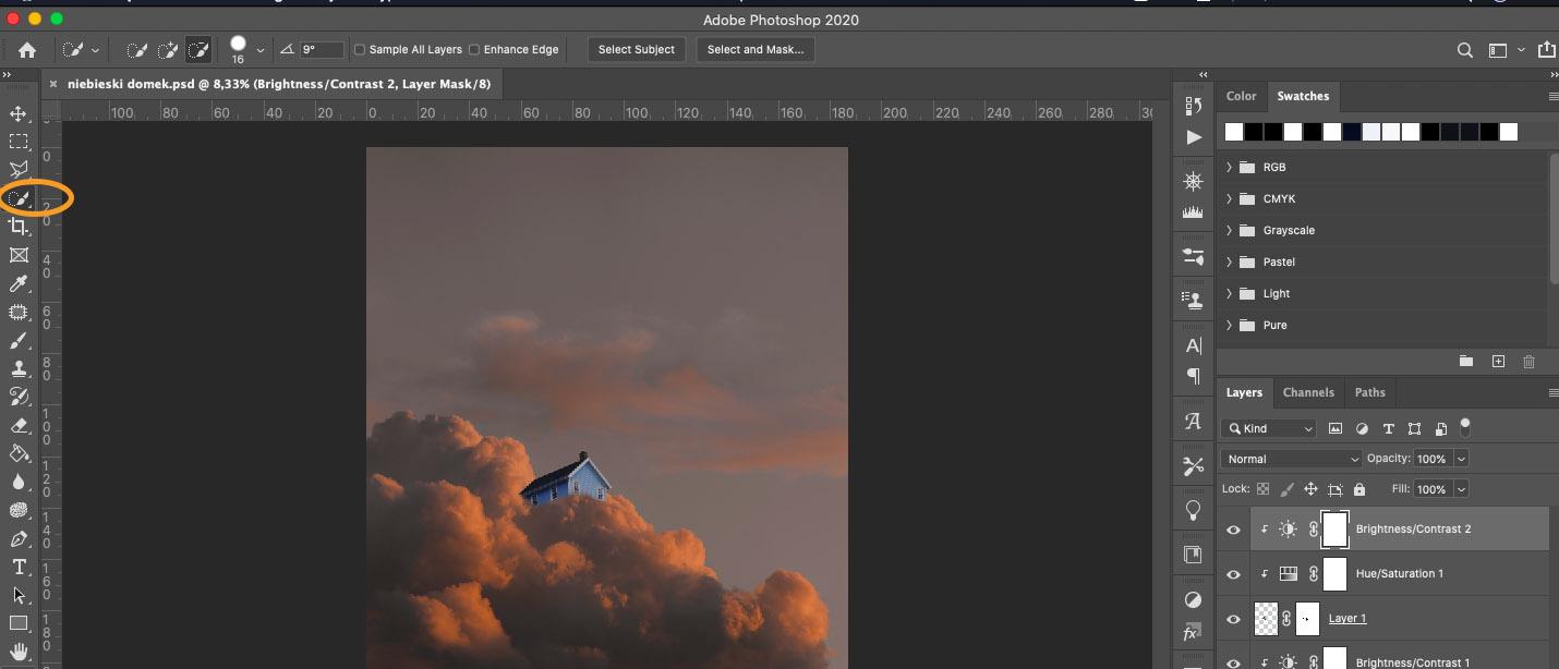 Łączenie dwóch zdjęćw Photoshopie
