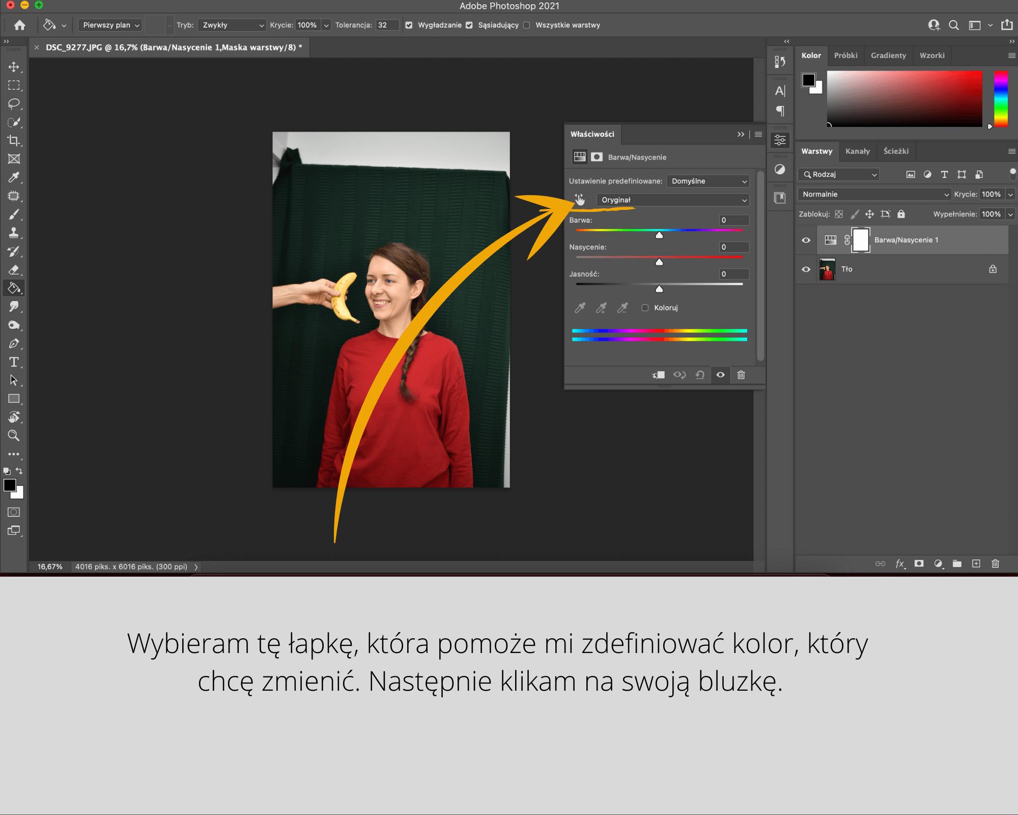 jak zmienić kolor w photoshopie
