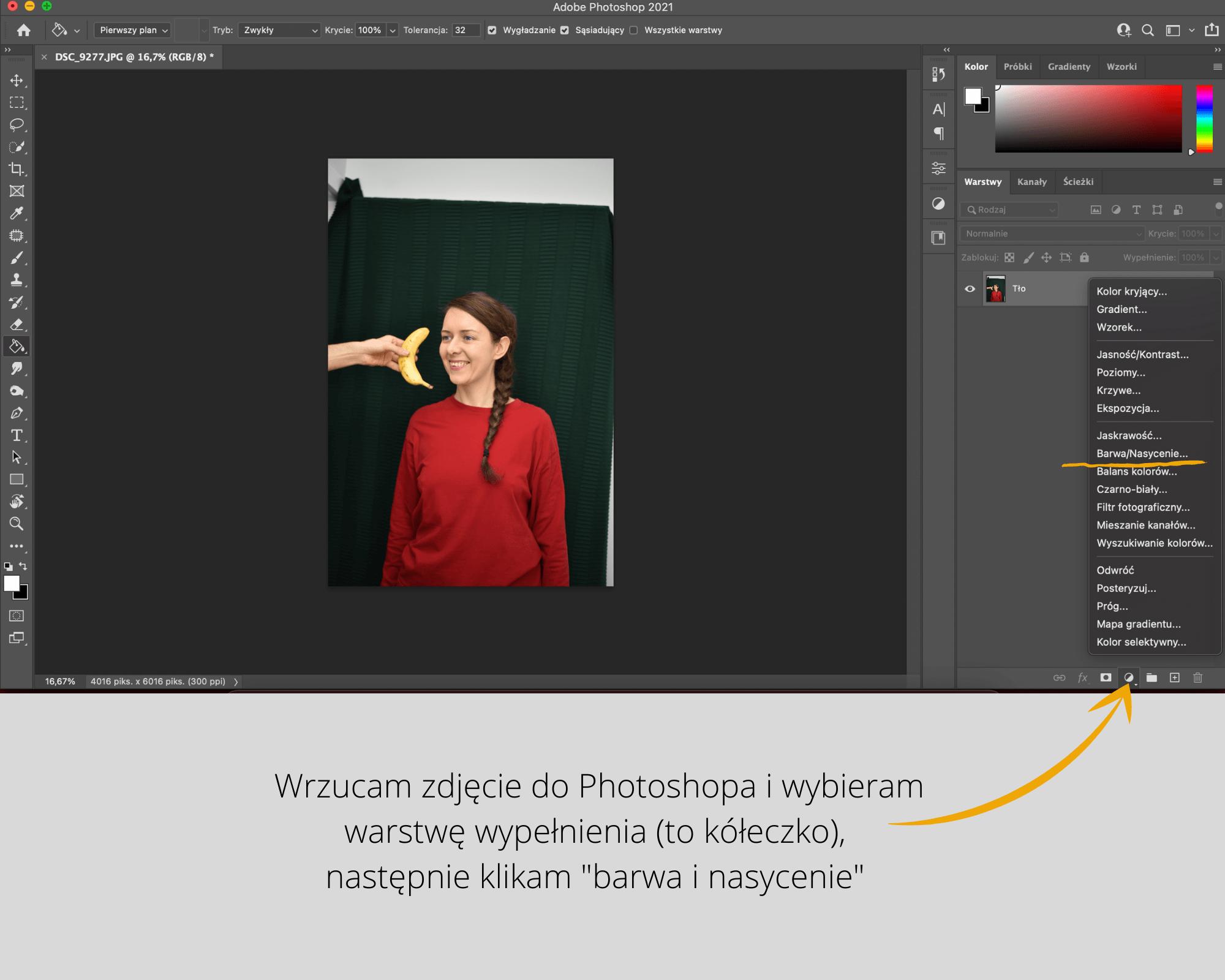 Jak w prosty sposób zmienić kolor w photoshopie